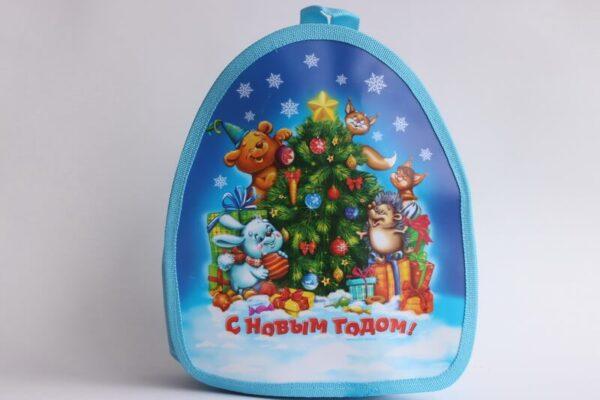 Новогодний рюкзак для подарка с елочкой