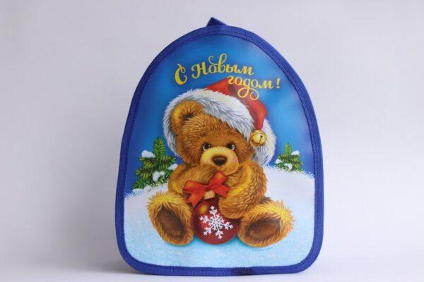 Новогодний рюкзак Мишка в колпаке